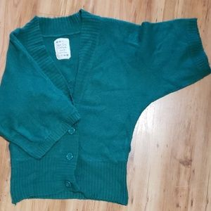 Green Bat Wing Sweater Medium